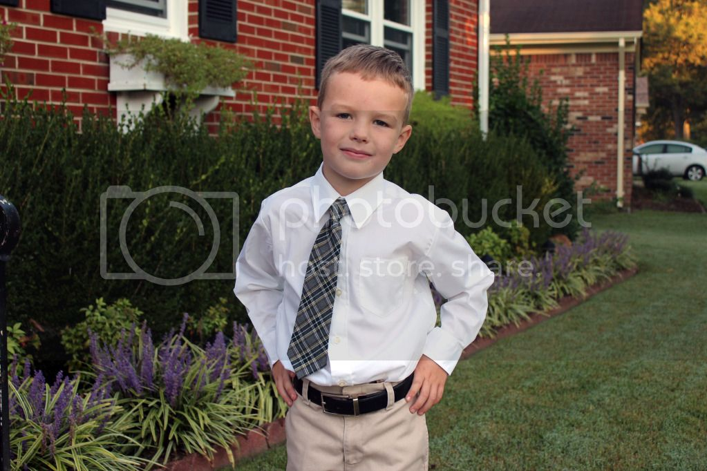 Troy's picture day - kindergarten 2012